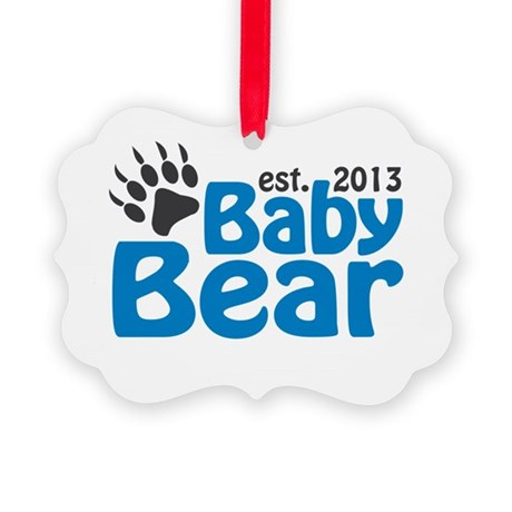 Baby Bear Claw Est 2013 Picture Ornament
