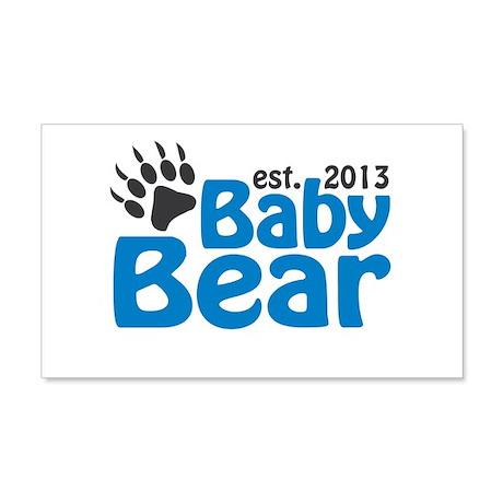 Baby Bear Claw Est 2013 20x12 Wall Decal