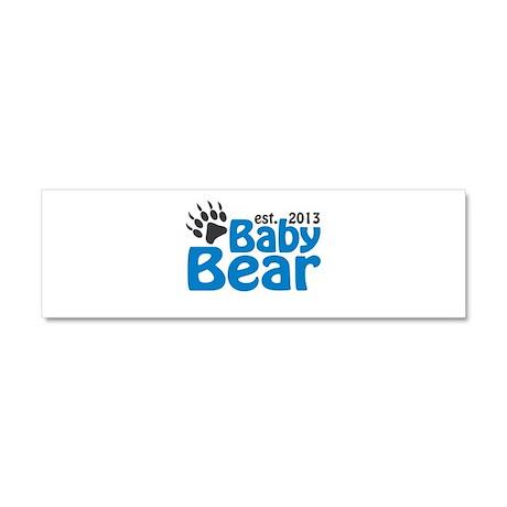 Baby Bear Claw Est 2013 Car Magnet 10 x 3