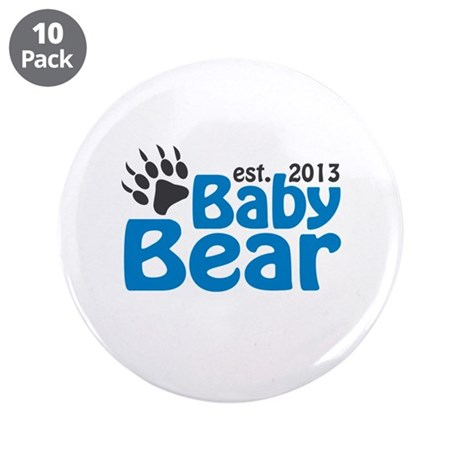 "Baby Bear Claw Est 2013 3.5"" Button (10 pack)"