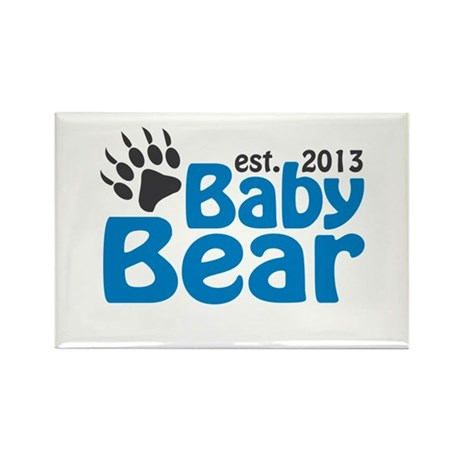 Baby Bear Claw Est 2013 Rectangle Magnet (10 pack)