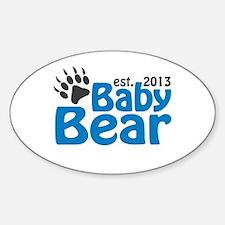 Baby Bear Claw Est 2013 Sticker (Oval)