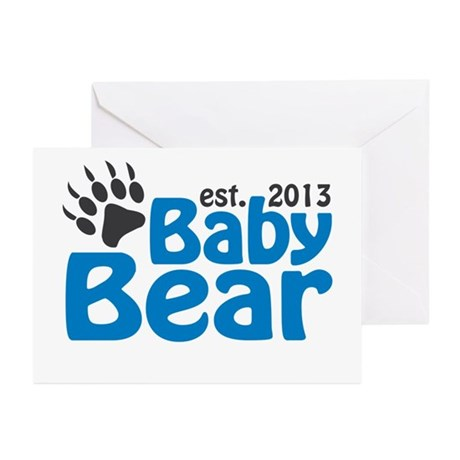 Baby Bear Claw Est 2013 Greeting Cards (Pk of 10)