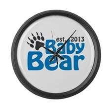 Baby Bear Claw Est 2013 Large Wall Clock