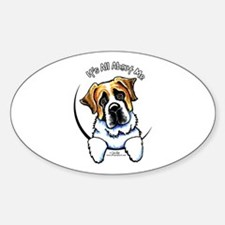 Saint Bernard IAAM Sticker (Oval)