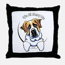 Saint Bernard IAAM Throw Pillow