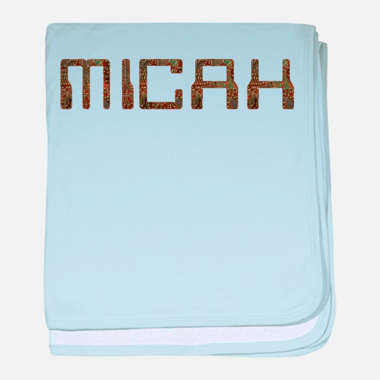 Micah Circuit baby blanket