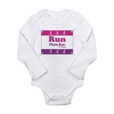 Race Bib Run Mom Body Suit