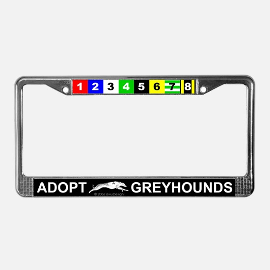 Adopt Greyhounds License Plate Frame
