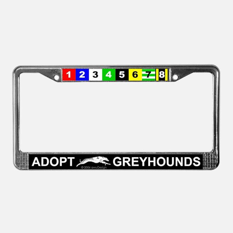 Adopt Greyhounds License Plate Frame
