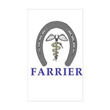 Farrier Caduceus Rectangle Decal