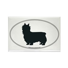 Silky Terrier Silhouette Rectangle Magnet