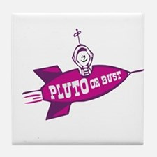 PLUTO BUST Tile Coaster