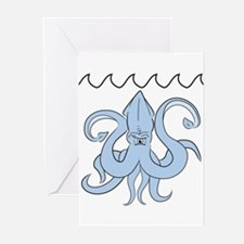 Giant Lurking Squid Greeting Cards (Pk of 10)