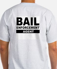Black Bail Enforcement Logo on Ash Grey T-Shirt