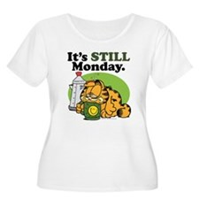 IT'S STILL MONDAY Women's Plus Size Scoop Neck T-S