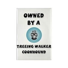 Owned by a Treeing Walker Rectangle Magnet