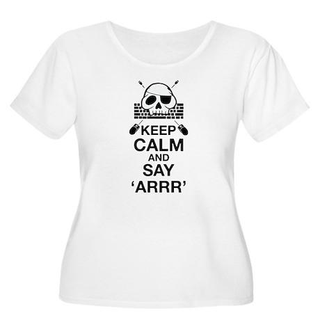 Say arr Women's Plus Size Scoop Neck T-Shirt