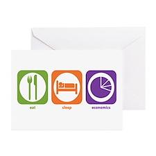 Eat Sleep Economics Greeting Cards (Pk of 10)
