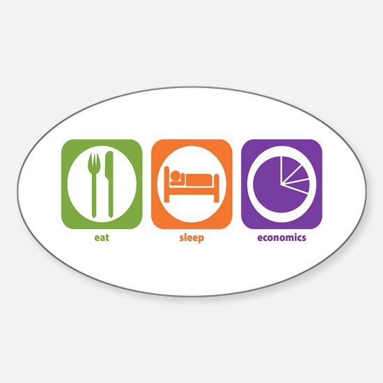 Eat Sleep Economics Oval Decal