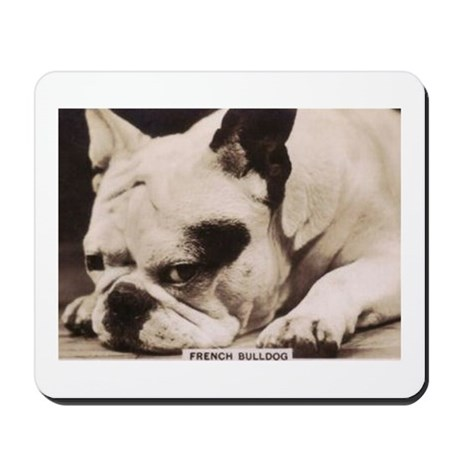 French Bulldog laying Mousepad