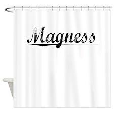 Magness, Vintage Shower Curtain