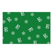 Tenor/Alto Clef Snowflake Postcards -g (Pk of 8)