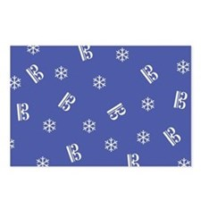Tenor/Alto Clef Snowflake Postcards -b (Pk of 8)