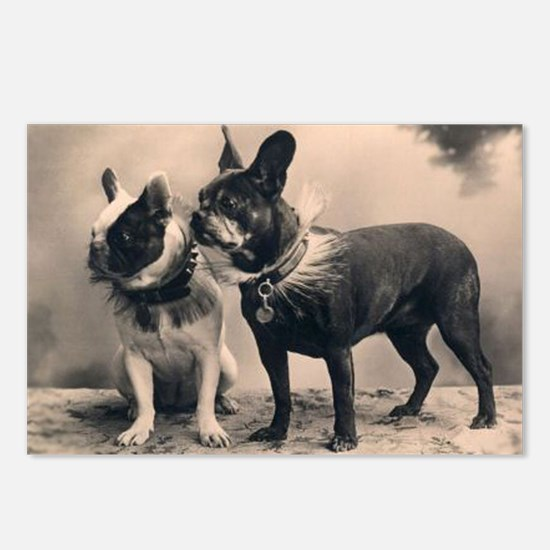French Bulldog Eliz. Pair Postcards (Package of 8)
