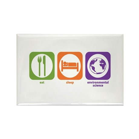 Eat Sleep Environmental Rectangle Magnet (100 pack