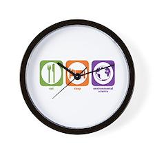 Eat Sleep Environmental Wall Clock