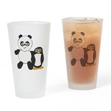 Panda and penguin Drinking Glass