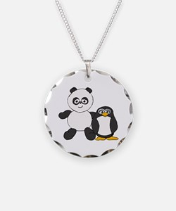 Panda and penguin Necklace