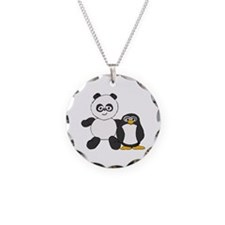 Panda and penguin Necklace Circle Charm