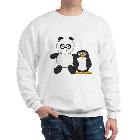 Panda and penguin Sweatshirt