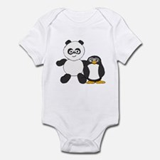 Panda and penguin Infant Bodysuit
