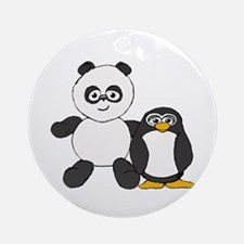 Panda and penguin Ornament (Round)