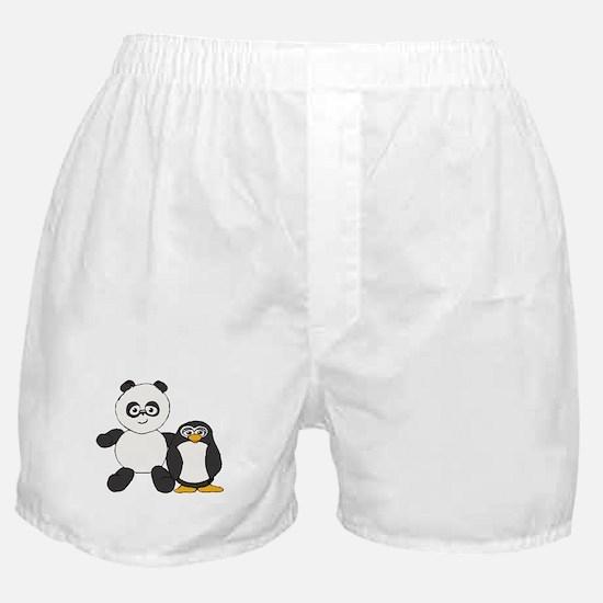 Panda and penguin Boxer Shorts