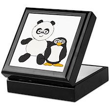 Panda and penguin Keepsake Box