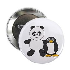 "Panda and penguin 2.25"" Button"