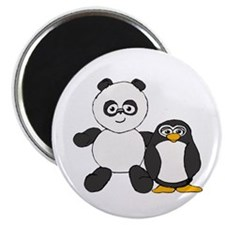 Panda and penguin Magnet
