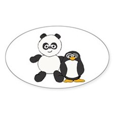 Panda and penguin Decal