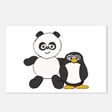 Panda and penguin Postcards (Package of 8)