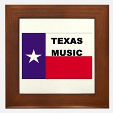 Texas Music Framed Tile