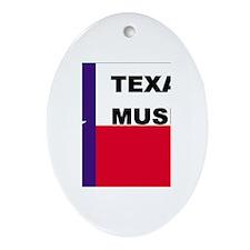 Texas Music Oval Ornament