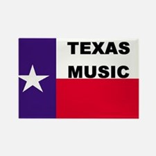 Texas Music Rectangle Magnet