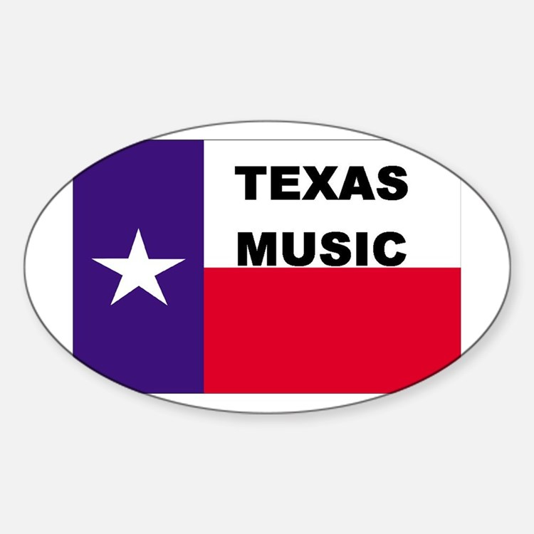 Texas Music Oval Decal