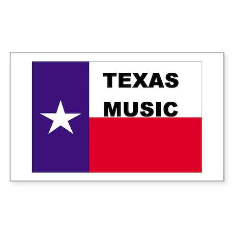 Texas Music Rectangle Sticker