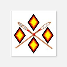 "SOUTHEAST TRIBAL STICKBALL Square Sticker 3"" x 3"""