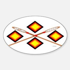 SOUTHEAST TRIBAL STICKBALL Sticker (Oval)